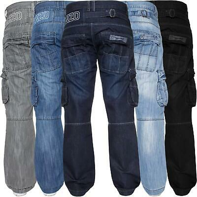 £14.99 • Buy Mens Cargo Combat Jeans Heavy Work Trousers Denim Pants Big King Tall All Waists