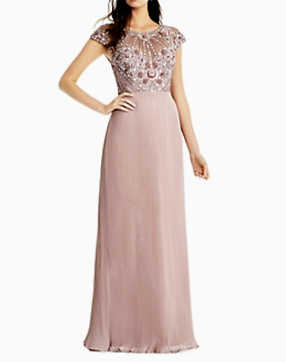 $63.74 • Buy Aidan Mattox Embellished Pleated Gown MSRP $375 Size 10 # 12B 705 Blm