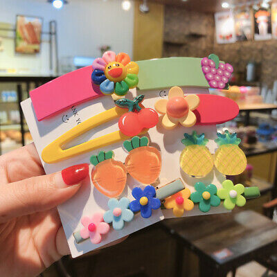 $0.99 • Buy 4x Girls Baby Hair Clips Fruit Snaps Hairpin Toddler Kids Hair Bow Accessories