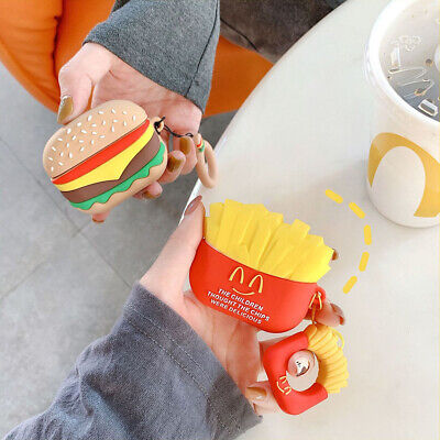 $ CDN5.21 • Buy For AirPods Pro Case 3D Hamburger Silicone Earphone Charging Case Cover