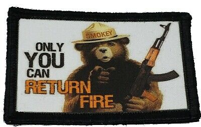 $7.99 • Buy Smokey The Bear AK47 Morale Patch Tactical Military Army Hook Flag USA
