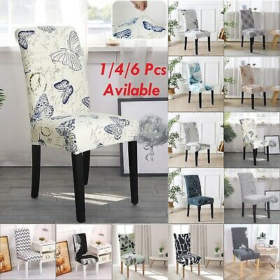 AU35.14 • Buy 4/6pcs Stretch Dining Chair Cover Removable Slipcover Washable Banquet Furniture