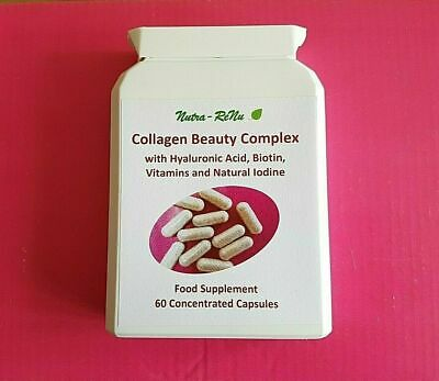 £6.95 • Buy Best High Strength Collagen Hyaluronic Acid Anti-Aging Anti-Wrinkle Tablets