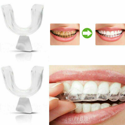 4 Mouth Guard Teeth Whitening Grinding Clenching Dental Bite Tooth White Gifts • 5.59£