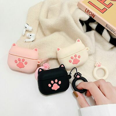 $ CDN6.69 • Buy For AirPods Pro Case Cute Cat's Paw Silicone Earphone Charging Case Cover