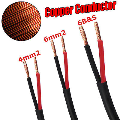 AU21.60 • Buy Twin Core Wire Cable 4mm 6mm 6 B S Electrical 2 Sheath Cables Caravan 4X4 12V