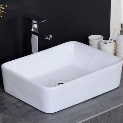 Bathroom Ceramic Basin Hand Wash Sink Counter Top Or Wall Mounted Hung • 39.99£