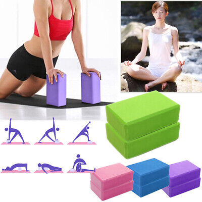 AU28.36 • Buy 1/2Pcs Yoga Block Brick Foaming Home Exercise Practice Fitness Gym Sport Tool AU