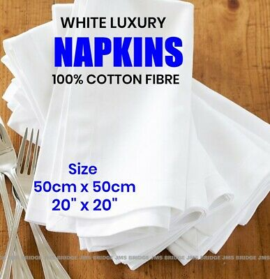 £12.95 • Buy Napkins Table Linen Dinner Cloth Poly Cotton Hotel Wedding 5 & 10 Pack 50 X 50cm