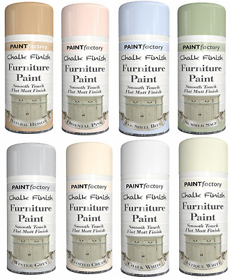 £5.99 • Buy Chalky Finish Furniture Spray Paint Smooth Touch Matt Finish 400ML & 9 Colours