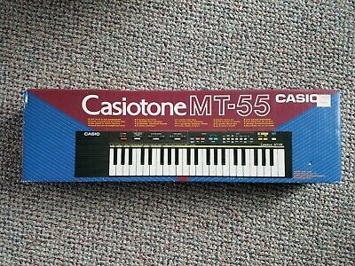 $49 • Buy Vintage Casio MT-55 Casiotone Keyboard Piano Synth Analog Beat Synthesizer W/box