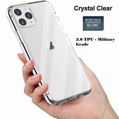 AU6.39 • Buy For IPhone 11 Pro 7 8 Plus X XS Max XR Case Clear Shockproof Cover 2mm Thick