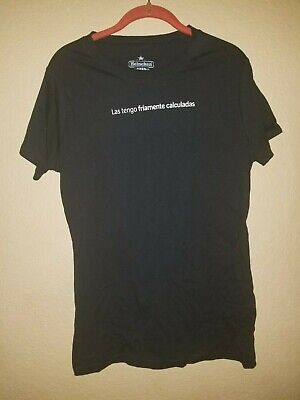 Heineken Beer Women's Short Sleeve Top T Shirt Size XL Black Spanish • 10.30£