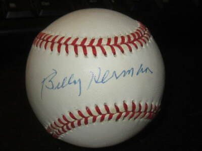 $ CDN46.30 • Buy Billy Herman Official MLB Baseball Autographed Chicago Cubs HOFer PSA COA