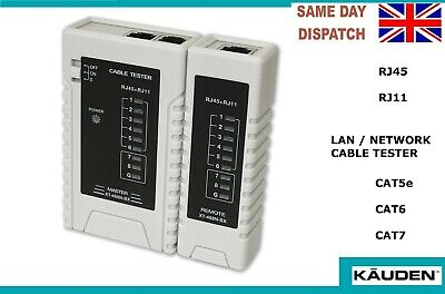 £7.99 • Buy KAUDEN LAN Cable Tester RJ45 RJ11 Network Structured Wiring Patch Cat6 7 5e Case