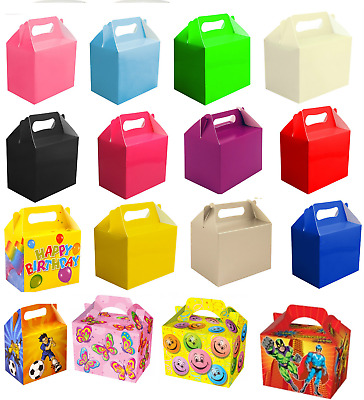 £3.99 • Buy 12 X Childrens Kids Party Lunch Boxes Colour Birthday Wedding Meal Food Loot Bag