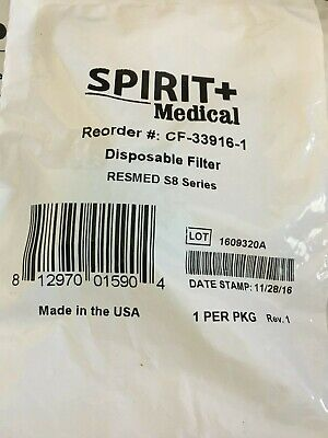 $14 • Buy LOT OF 20 SPIRIT RESMED S8 Series Blue/White Filter, Disposable CF-33916-1