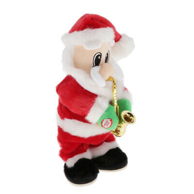 $ CDN46.23 • Buy Christmas Electric Santa Claus Doll Blowing Saxophone Old Man Toy Home Decor