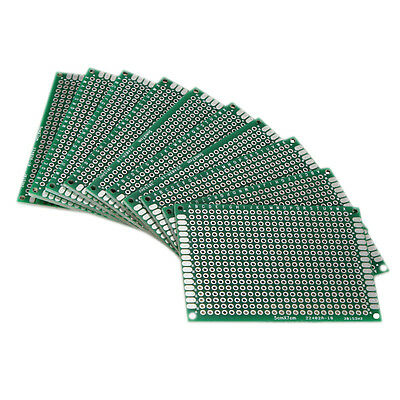 £4.90 • Buy 10X Double Side 5x7cm PCB Strip Board Printed Circuit Prototype Track