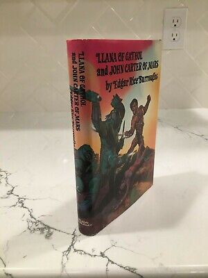 1977  LLANA OF GATHOL & JOHN CARTER OF MARS  By Edgar Rice Burroughs • 15$