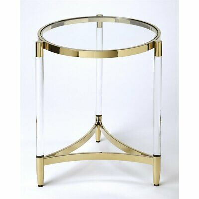 $619 • Buy Butler Charlene Acrylic And Gold Round End Table
