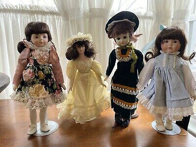 $ CDN28.15 • Buy Vintage Porcelain Dolls - Lot Of 4 With Stands