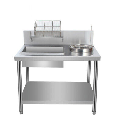 Stainless Steel Chicken Breading Table Worktop Bowl Basket Unit With Under Shelf • 251.94£