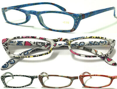 £3.69 • Buy L268 Ladies Reading Glasses Diamantes Lightweight Butterfly Shape Designed  ***