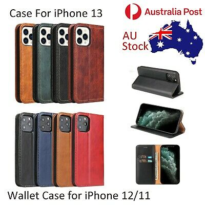 AU12.95 • Buy For IPhone 12 Pro Max 11 Pro Max Wallet Case Magnetic Leather Cover Card Holder