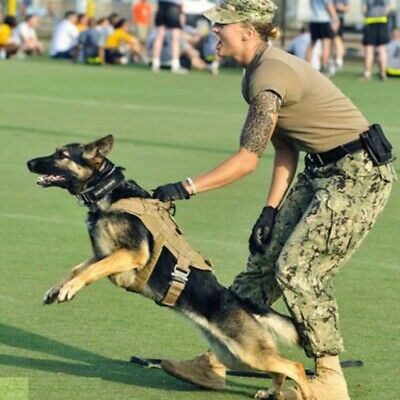 AU37.58 • Buy HOT Tactical Large Dog Training Vest Harness Military K9 Water Resistant Harness