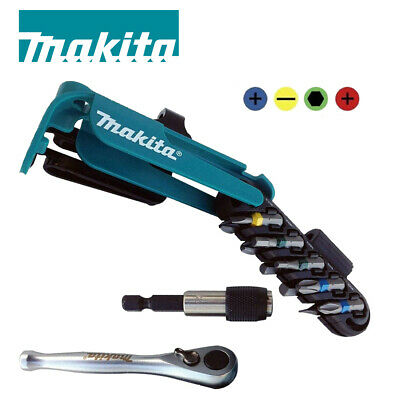 Makita P-79142 Screwdriver Bit Set Colour Coded With Bit Holder And Ratchet 12pc • 14.99£