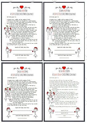 Personalised SEXY  Contract . New Couple Anniversary Gift Romantic 1st Christmas • 6.49£
