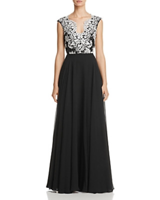 $119.99 • Buy Aidan Mattox Lace Embroidered Gown MSRP $365 Size 0 # 2NB 553 NEW