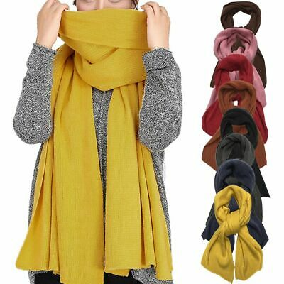 $8.17 • Buy Womens Mens Cashmere Scotland Oversized Blanket Wool Scarf Shawl Wrap Solid 2021