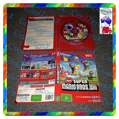 AU59.98 • Buy New Super Mario Bros Wii Nintendo Wii Wii U Aus PAL