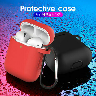 $ CDN1.77 • Buy AirPods Silicone Case + Keychain Protective Cover Skin For AirPod Charging Case