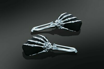 $103.49 • Buy Kuryakyn 1759 Skeleton Hand Mirrors Chrome Stem With Black Head UNIVERSAL