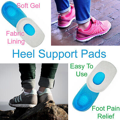 Heel Support Pads Orthotic Cushion Gel Cup Insoles UK For Plantar Fasciitis Pain • 2.95£