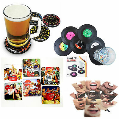 Drink Coasters Vinyl Record Darts Beer Mats Novelty Gift Present Stocking Filler • 5.99£