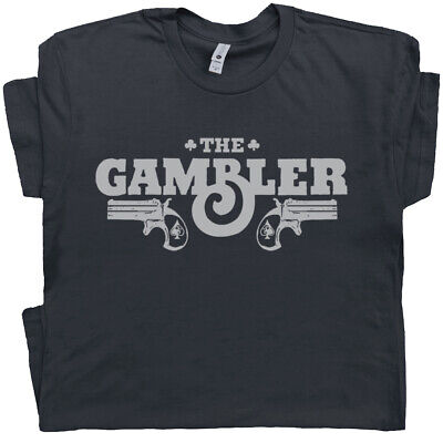 $16.99 • Buy Gambler T Shirt Vintage Poker Las Vegas Hunter S Thompson Outlaw Country Music