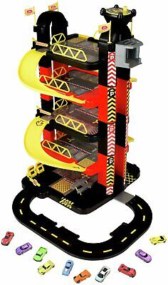 £85.99 • Buy Chad Valley Deluxe 5 Level Garage & 10 Cars Set Racing Kids Play Xmas Gift NEW