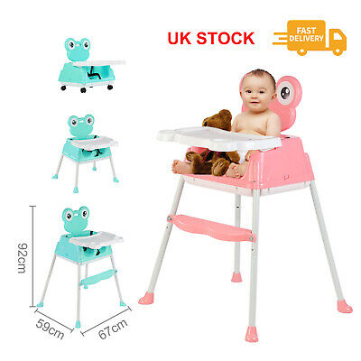 £32.99 • Buy 5-in-1 Baby Highchair Infant High Feeding Seat Toddler Table Chair Portable UK