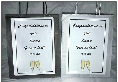 **Divorce Party Gift Bag**for Favours**Celebration** • 1.49£