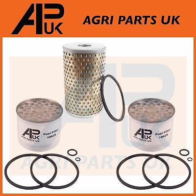 Massey Ferguson 35 & 35X Tractor Engine Oil & Fuel Filter Set Kit With Seals • 11.99£