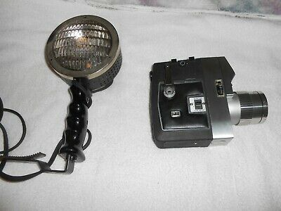 OLD VTG BELL & HOWELL OPTRONIC EYE AUTO LOAD ZOOMATIC MOVIE CAMERA W/LAMP • 7.23£