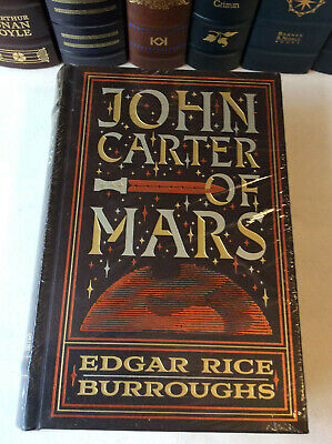 John Carter Of Mars By Edgar Rice Burroughs - 5 Novels In 1 - Leather-bound, New • 42$
