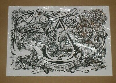Assassins Creed Black Flag IV Ace Of Spades Lithograph Art Print Official Sealed • 24.99£