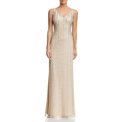 $67.49 • Buy Aidan Mattox Bead-Embellished Gown MSRP $440 Size 4 # 12A 825 Blm