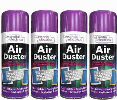 £8.95 • Buy 4 X Compressed Air Duster Spray Can Cleaner Dust Blower Laptop Computer Keyboard