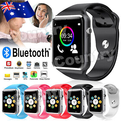 AU27.95 • Buy A1 Bluetooth Smart Watch For Android IPhone Samsung Kids Tracker Camera NEW